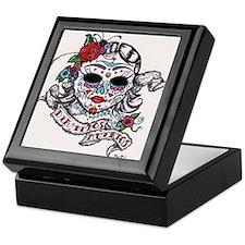 dia de los muertos woman Keepsake Box