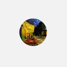 Van Gogh Cafe Terrace At Night Mini Button