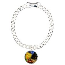 Van Gogh Cafe Terrace At Charm Bracelet, One Charm