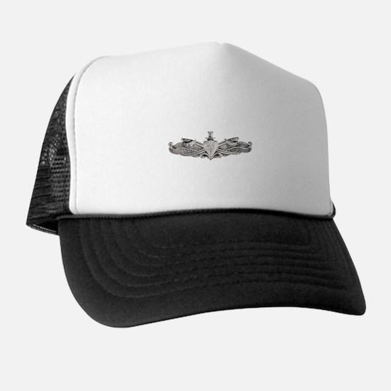 uss canopus white letters Trucker Hat