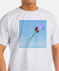 Shower Curtain Butterfly and Roses T-Shirt