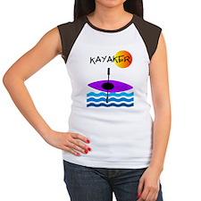 Kayaker 1 purple Women's Cap Sleeve T-Shirt
