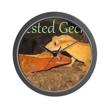 Crested Geckos Wall Clock