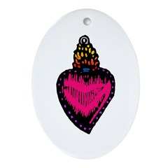 Heart Milagro Oval Ornament