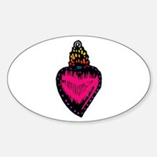 Heart Milagro Oval Decal