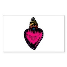 Heart Milagro Rectangle Decal