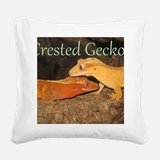 Crested Geckos Square Canvas Pillow