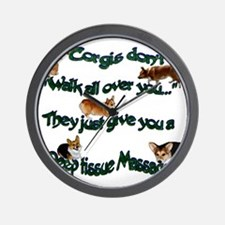 Corgi Massage Wall Clock