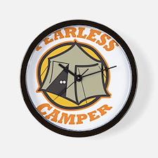 Fearless Camper (dark) Wall Clock