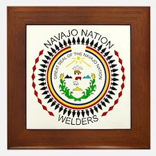 Navajo Nation Welders Framed Tile