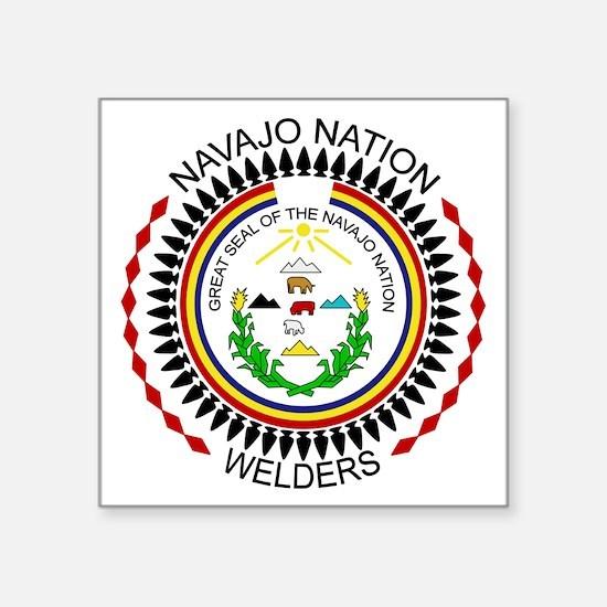 "Navajo Nation Welders Square Sticker 3"" x 3"""