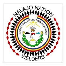 "Navajo Nation Welders Square Car Magnet 3"" x 3"""