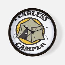 Fearless Camper Wall Clock