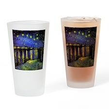 Van Gogh Starry Night Over The Rhon Drinking Glass
