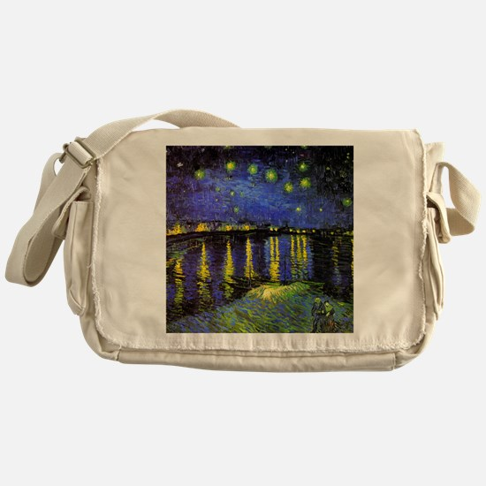 Van Gogh Starry Night Over The Rhone Messenger Bag
