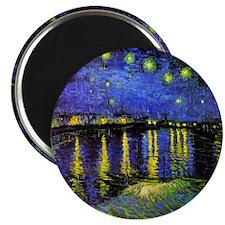 Van Gogh Starry Night Over The Rhone Magnet