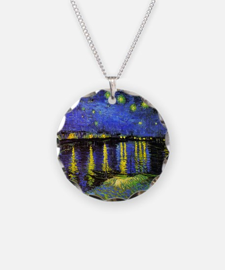 Van Gogh Starry Night Over T Necklace