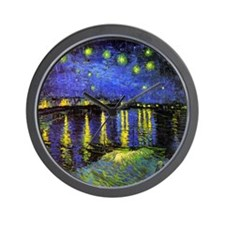 Van Gogh Starry Night Over The Rhone Wall Clock