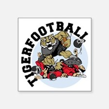 "Tiger Football 3 Square Sticker 3"" x 3"""