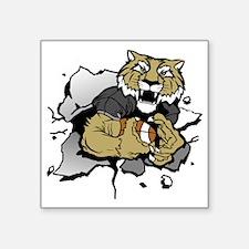 "Tiger Football 5 Square Sticker 3"" x 3"""