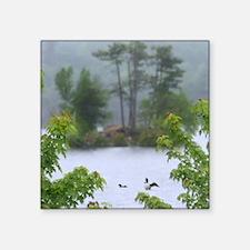 "Moose Pond Square Sticker 3"" x 3"""