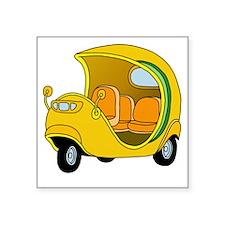 """Coco Taxi Square Sticker 3"""" x 3"""""""