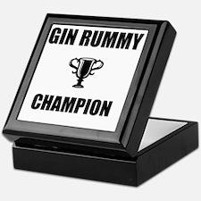 gin rummy champ Keepsake Box