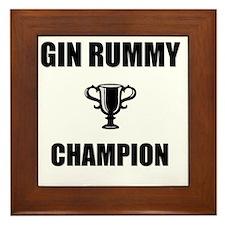 gin rummy champ Framed Tile