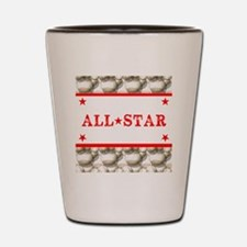 Baseball All-Star Shot Glass