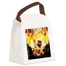 Phoenix Owl Canvas Lunch Bag