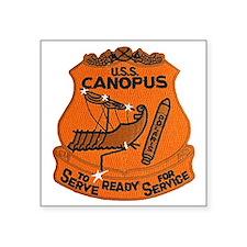 "uss canopus patch transpare Square Sticker 3"" x 3"""