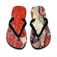 Gustav Klimt Girlfriends Flip Flops