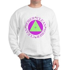 Clean and Sober Circle Flower Triangle Sweatshirt