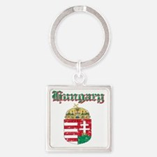Hungarian Coat Of Arms Square Keychain