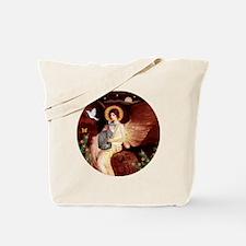 Angel1-Tiger  white (B) Tote Bag