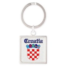 Croatian Coat Of Arms Square Keychain