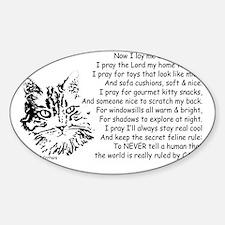 Now I Lay Me Down To Sleep Paws4Cri Sticker (Oval)