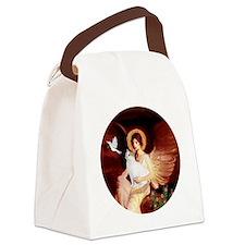 Angel 1-Turkish Van cat Canvas Lunch Bag