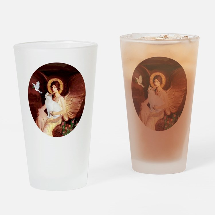 Angel 1-Turkish Van cat Drinking Glass