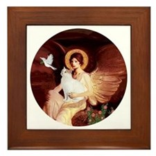 Angel 1-Turkish Van cat Framed Tile