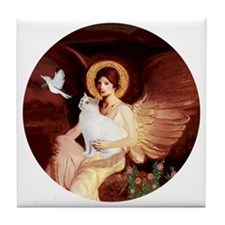 Angel 1-Turkish Van cat Tile Coaster