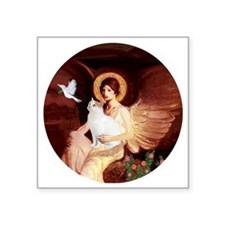 "Angel 1-Turkish Van cat Square Sticker 3"" x 3"""