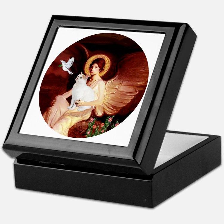 Angel 1-Turkish Van cat Keepsake Box
