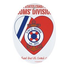 USCG Moms Division (3) Oval Ornament
