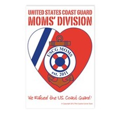 USCG Moms Division (3) Postcards (Package of 8)