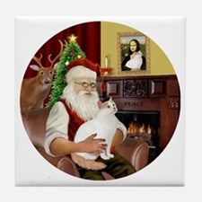 Santa - Turkish Van 52 Tile Coaster