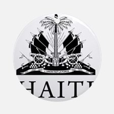 Haiti Coat Of Arms Round Ornament