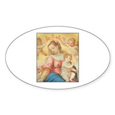 Madonna del Rosario Oval Decal