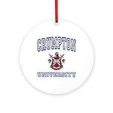 CRUMPTON University Ornament (Round)
