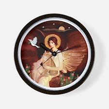 Angel 1 - Orange Tabby Cat Wall Clock